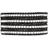 Rafaela Donata - Bracelet en cuir véritable - Cuir véritable perle en métal, collier en cuir véritable, bijoux en cuir - 60831012