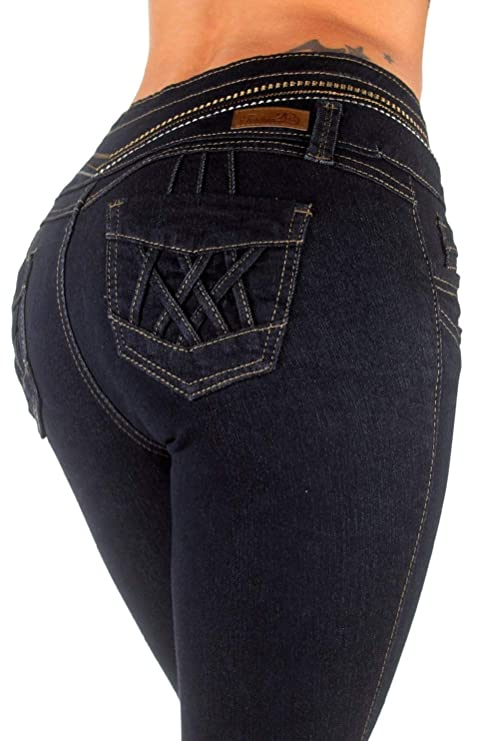 Amazon.com: Diseño colombiano, cintura alta, levantamiento ...