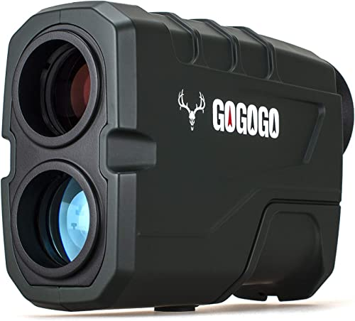Gogogo Sport Hunting Rangefinder -1200 Yards Laser Range Finder for Hunting and Golf with Speed, Slope, Scan and Normal Measurements – Rechargeable – with USB Cable