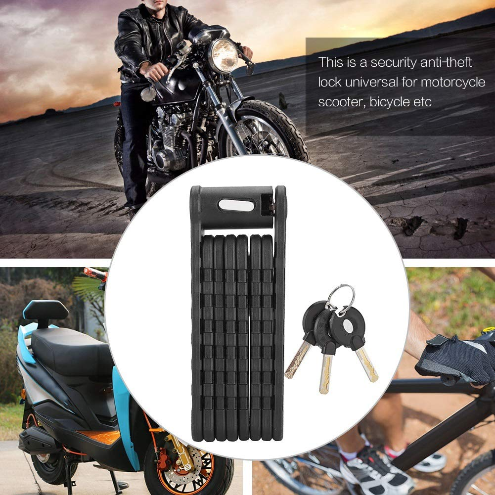 MAGT Bike Lock Motorcycle Bicycle Anti-Theft Alloy Steel Lock Foldable Security Lock Universal