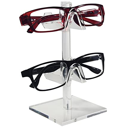 Amazon.com: Mooca 2 Piece Acrylic Eyeglasses Frame Riser Display ...
