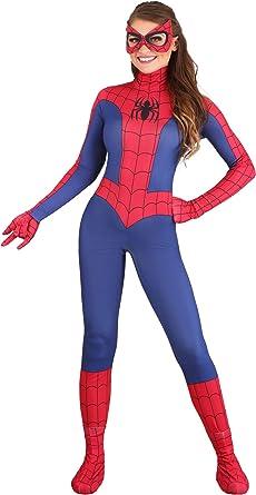LICENSED SPIDER-GIRL ADULT WOMENS SUPERHERO SPIDERMAN DRESS HALLOWEEN COSTUME