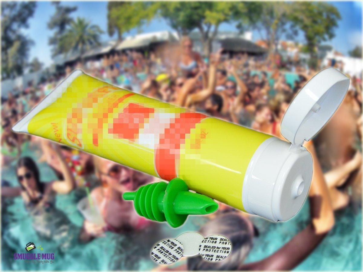 ShampBooze Deluxe and Sunscreen Flask Set by Smuggle Mug shamsun