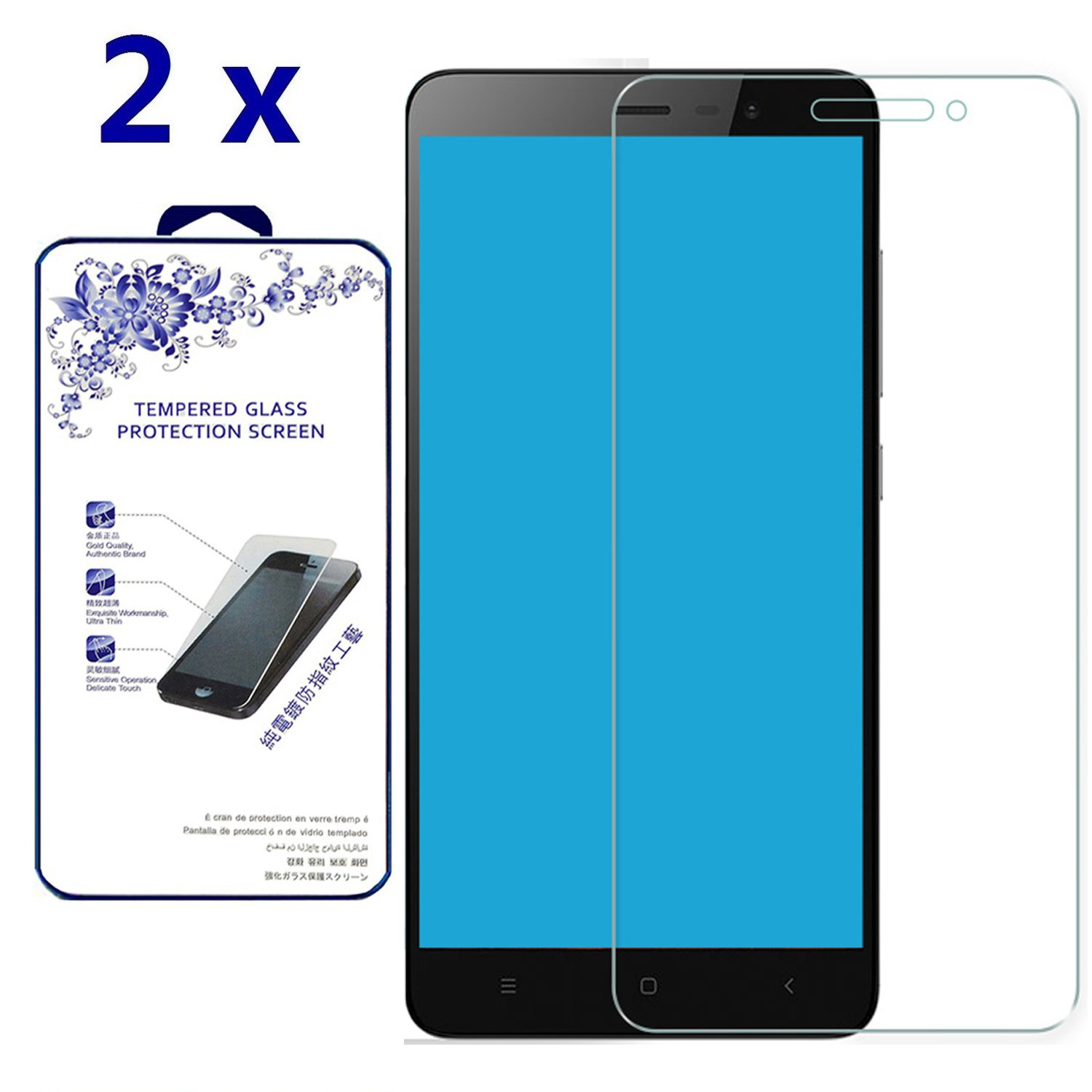 2x Glass For Xiaomi Redmi Note 3 Pro Country Boots Zongos Premium Tempered Screen Protector Anti Scratch Bubble Free 03mm