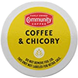 Community Coffee Coffee & Chicory 36 Count Coffee Pods, Compatible with Keurig 2.0 K-Cup Brewers, Box of 36 Pods