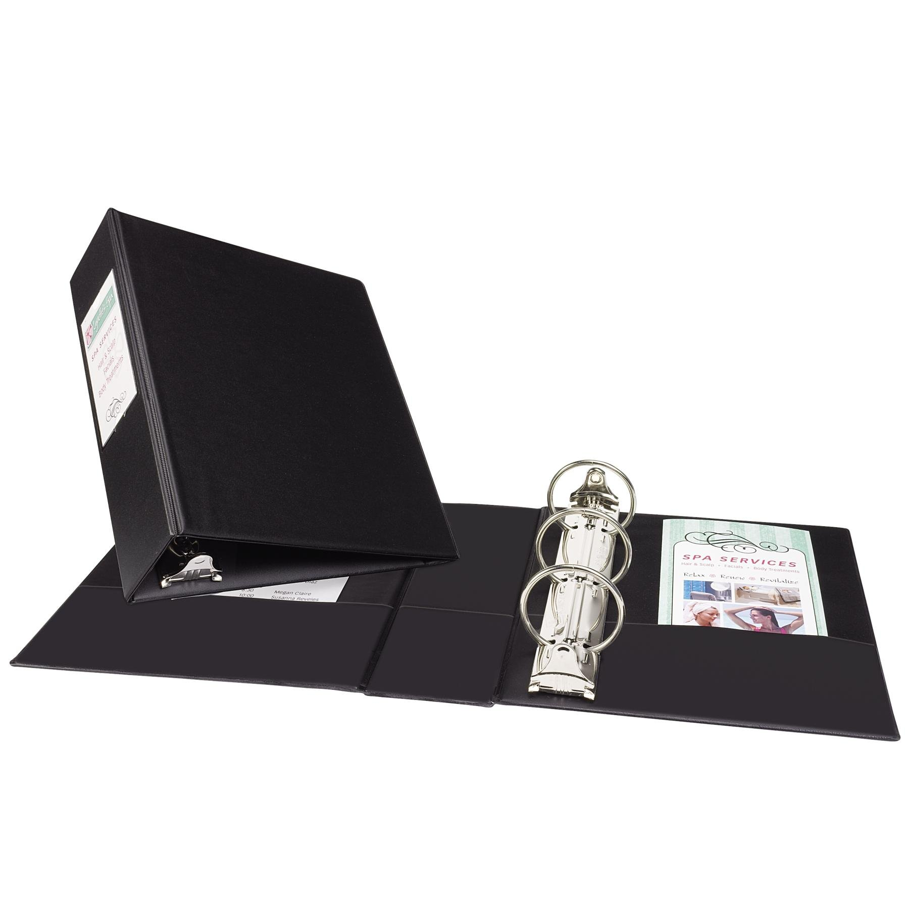 Avery Mini Durable Binder for 5.5 x 8.5 Inch Pages, 2-Inch Round Ring, Black, 1 Binder (27554)