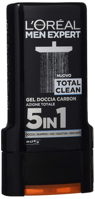 L'Oréal Paris Men Expert Shower Gel, Coal Action Total Clean 5 In 1, 300 ml / 10.1oz