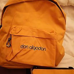 Don Algodón Mochila Mujer Casual Nailon con puerto USB Amarillo: Amazon.es: Equipaje