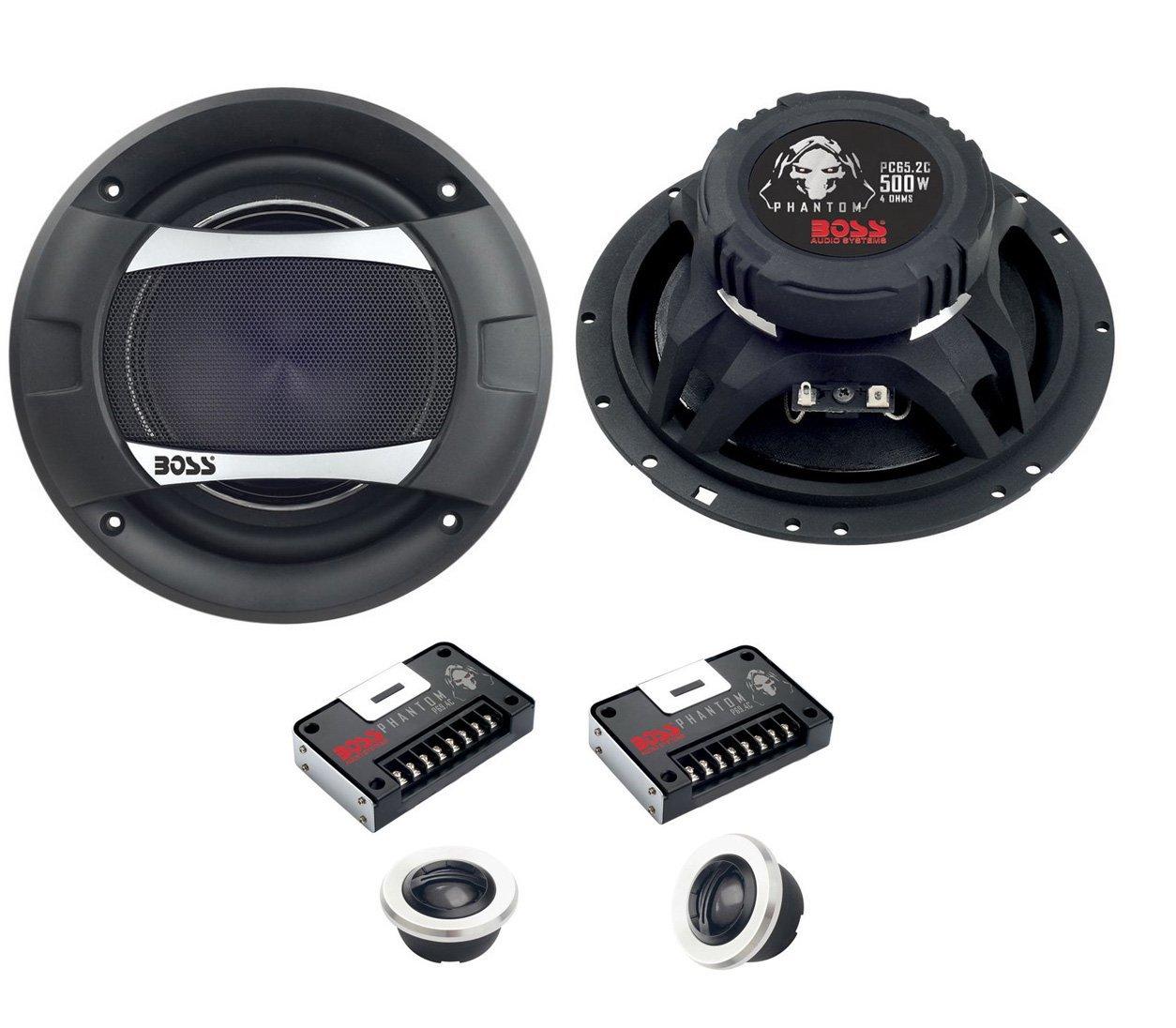 2)New Boss PC65.2C 6.5'' 500W 2-Way + 2) Boss P694C 6x9'' 800W 4-Way Car Speakers