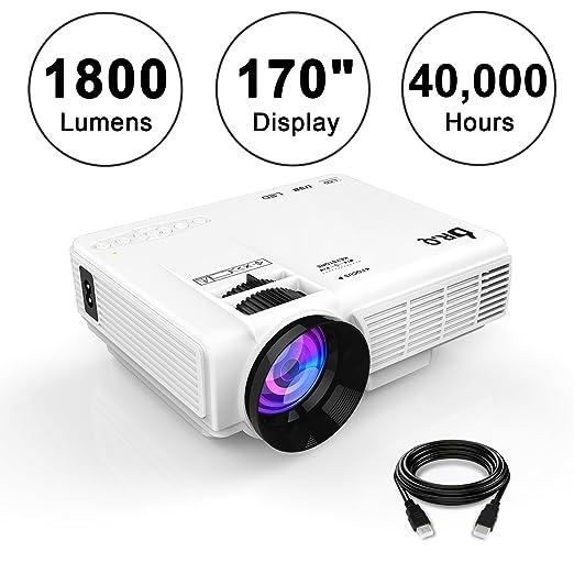 """40 opinioni per Mini Proiettore LCD 1800 Lumen Display 170"""", Supporto 1080P, Interfaccia VGA /"""