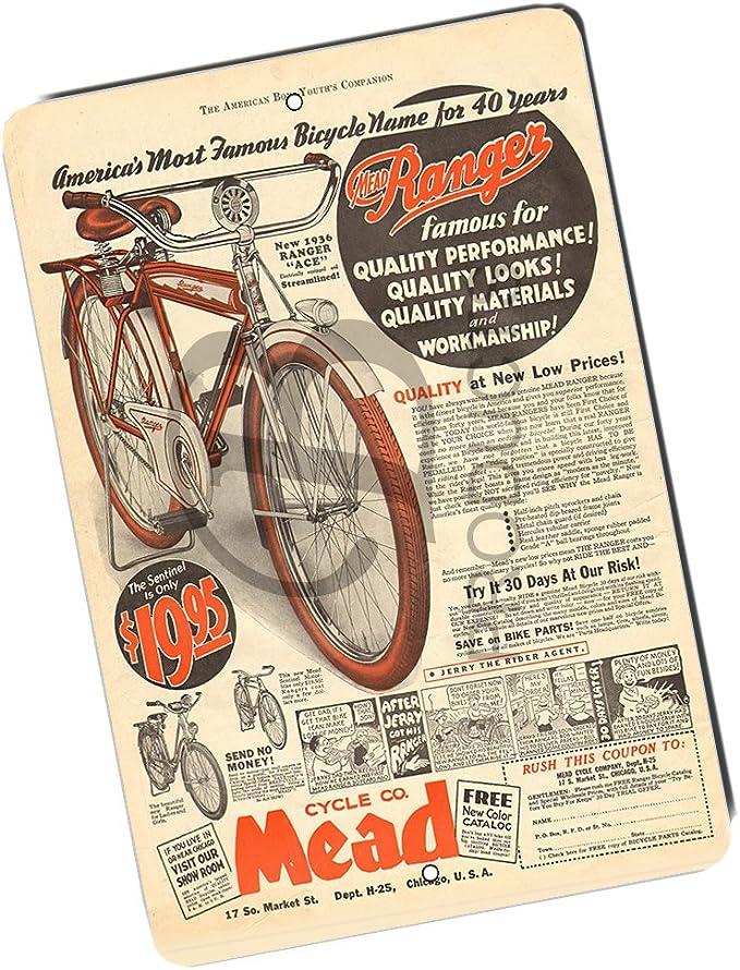 Señal de metal para bicicleta de Brotherhood Mead Cycle Company ...