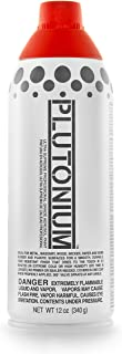 product image for PLUTONIUM Paint Ultra Supreme Professional Aerosol Spray Paint, 12-Ounce, Red Alert