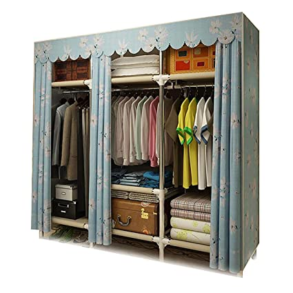 65de5e3618cf Amazon.com: XIAONUA Portable Clothes Closet Wardrobe, Fabric ...