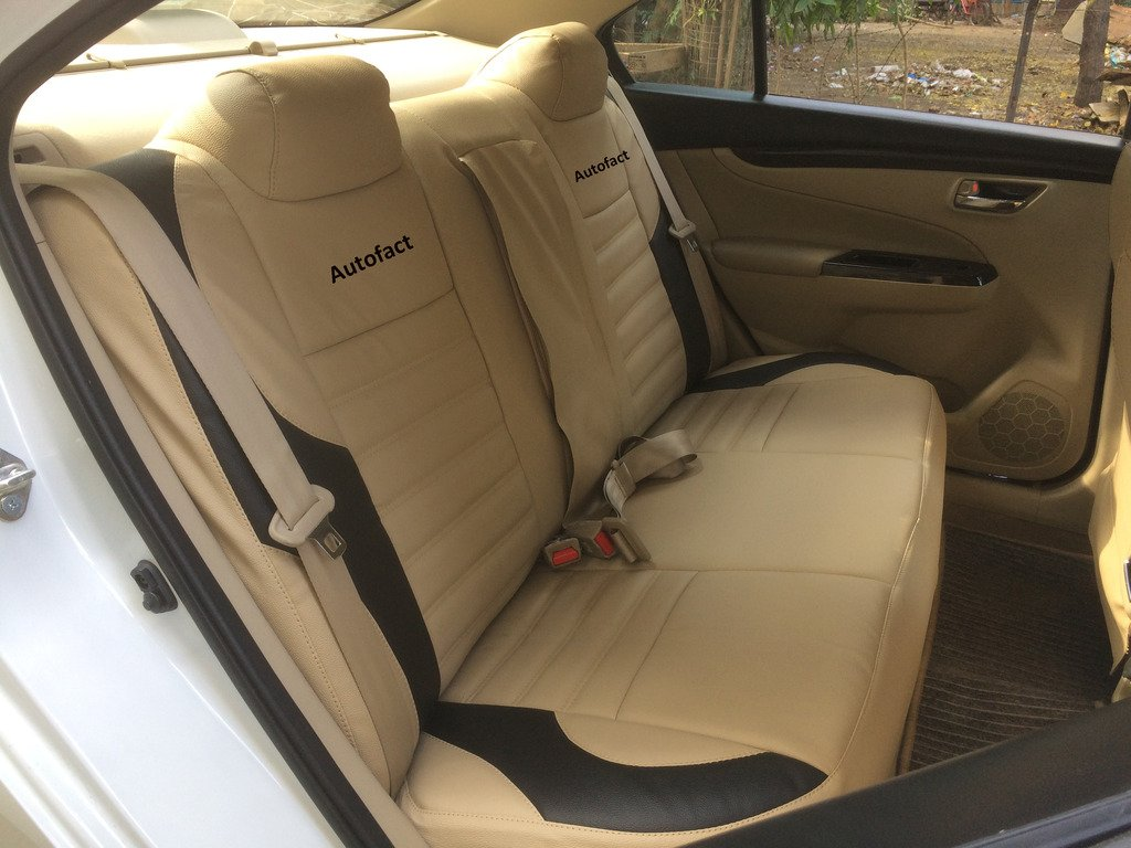Swell Autofact Pu Leather Car Seat Covers For Hyundai I20 Old In Beige And Black Color Alphanode Cool Chair Designs And Ideas Alphanodeonline