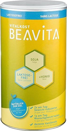 BEAVITA Vitalkost sabor vainilla sin lactosa - 500 g 9 porciones - 214 kcal por porción - Sin lácteos o gluten - Suplemento con proteína, vitaminas y ...