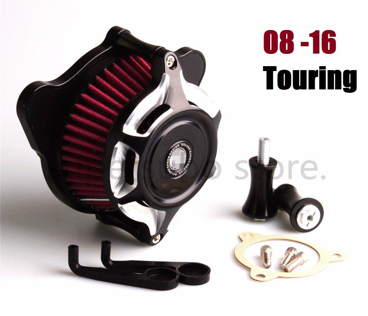 Motorcycle Contrast Cut RSD Split Blunt Air intake air Cleaner filter For Harley Touring street Glide 08-16   B07875623K