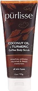 product image for purlisse Coconut Oil + Turmeric Coffee Body Scrub – Moisturizing Exfoliator Scrub - Exfoliates Dead Skin, Deeply Moisturizes - 6 Ounces/170 Grams