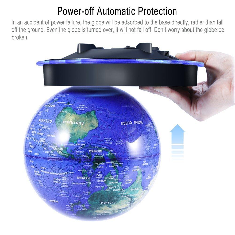 Semme 8  Magnetschwebe Globus schwimmende rotierenden Ball Anti Schwerkraft LED beleuchtete Weltkarte Erde f/ür Desktop Office Home Decor Kinder Bildung