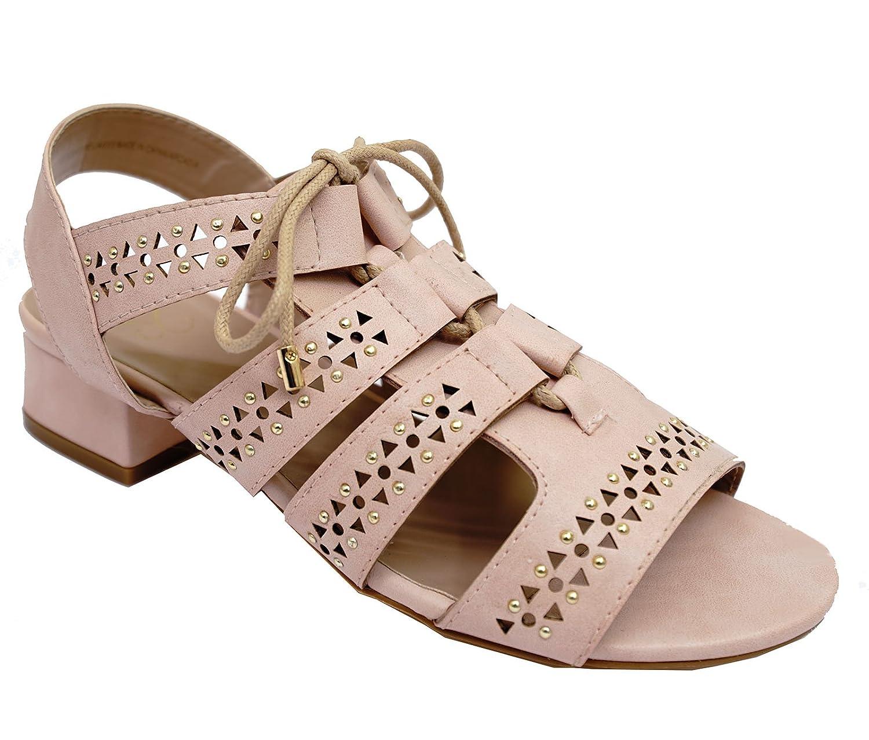 7406cc65fd75 Ladies Nude Ex-Evans Wide-Fit EEE Wedge Peep-Toe Gladiator Sandals Shoes UK  4-10  Amazon.co.uk  Shoes   Bags