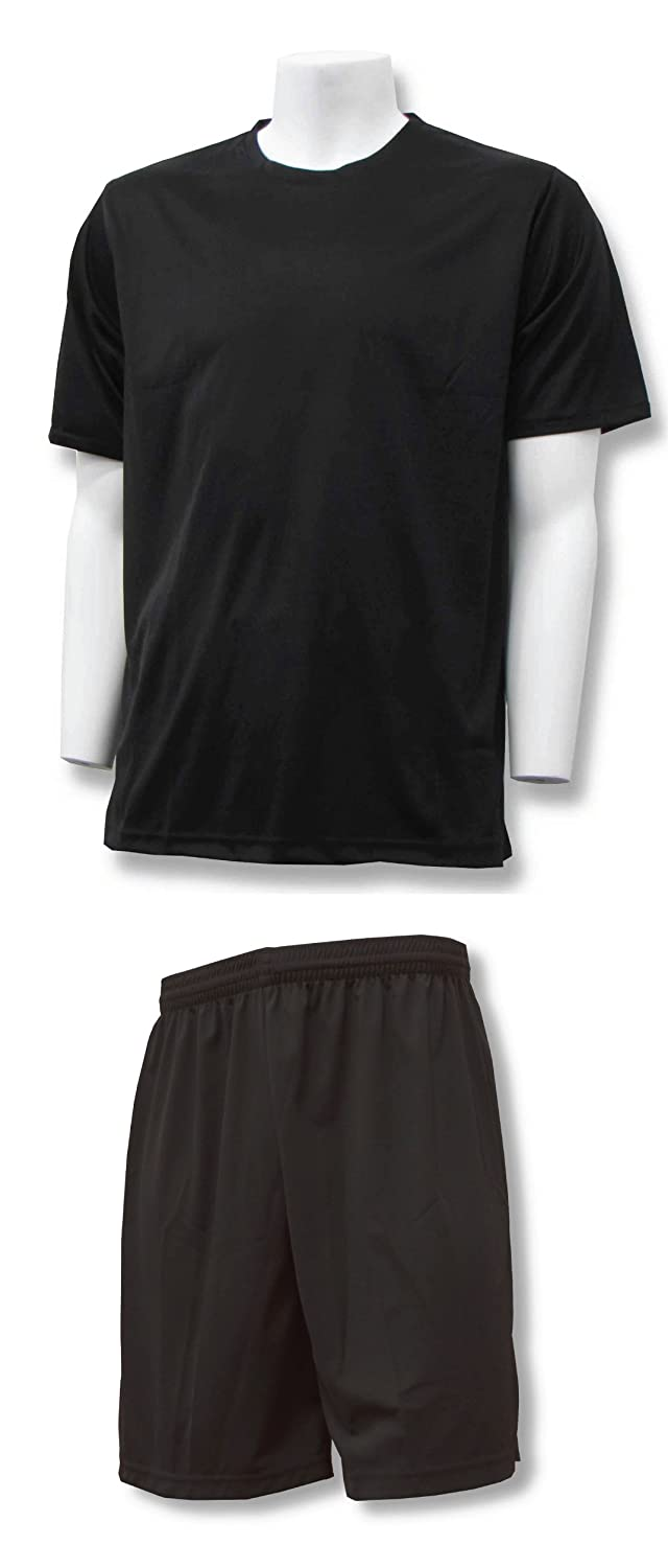 Code Four Athletics APPAREL メンズ B01AO6SPG0 Adult XX-Large|Black Jersey With Black Shorts Black Jersey With Black Shorts Adult XX-Large