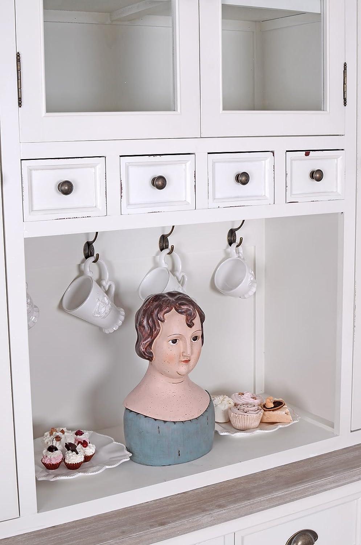 Küchenbuffet Shabby Chic Buffet Weiss Küchenschrank Vitrine: Amazon ...