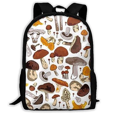 SARA NELL School Backpack Mushrooms Bookbag Casual Travel Bag For Teen Boys Girls   Kids' Backpacks