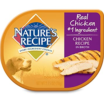 Amazon natures recipe wet dog food chicken recipe in broth natures recipe wet dog food chicken recipe in broth 275 ounce cup forumfinder Choice Image