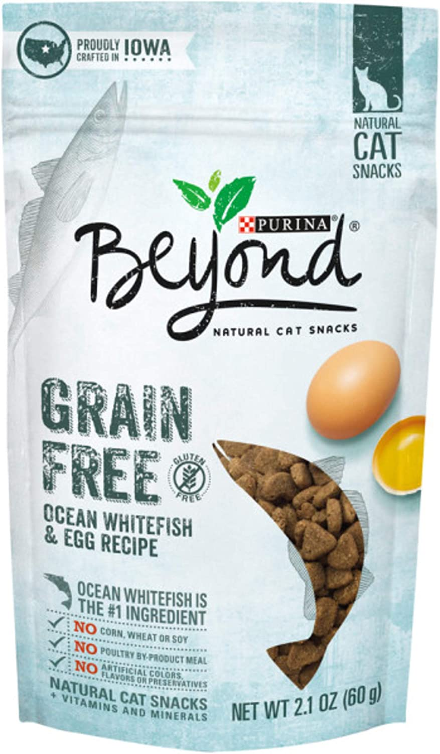 10-Pack 2.1oz Purina Beyond Grain Free Cat Snacks (Ocean Whitefish & Egg)