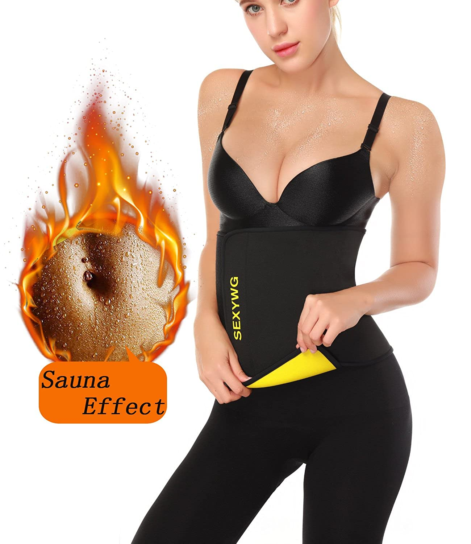SEXYWG Hot Sweat Neoprene Shaper Velcro Slimming Belt Sauna Waist Trainer Girdle SF039-B-2XL/3XL