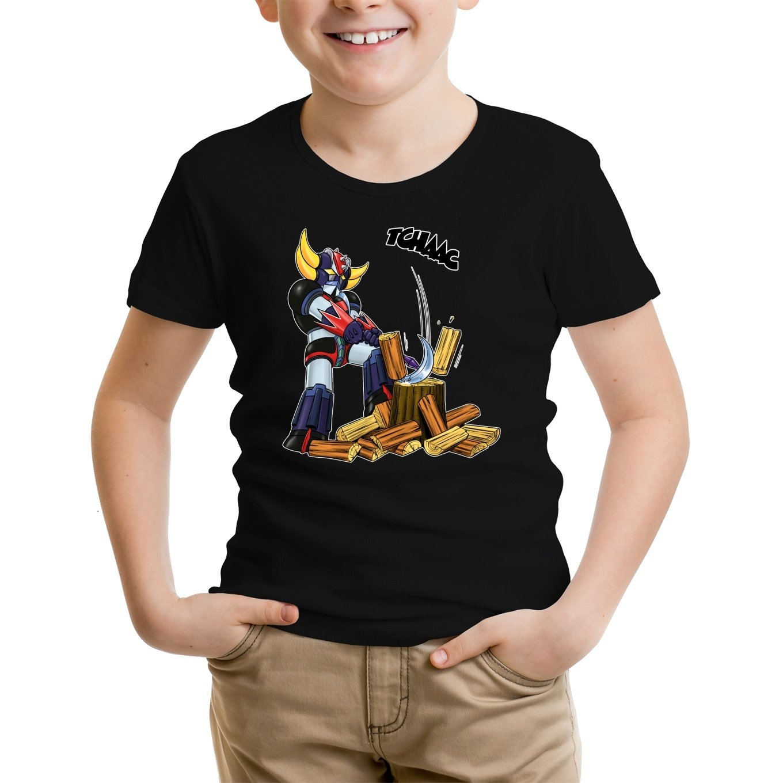 Le B/ûcheron de lespace ! Okiwoki T-Shirt Enfant Noir Goldorak parodique Goldorak Parodie Goldorak Ast/éro-Hache
