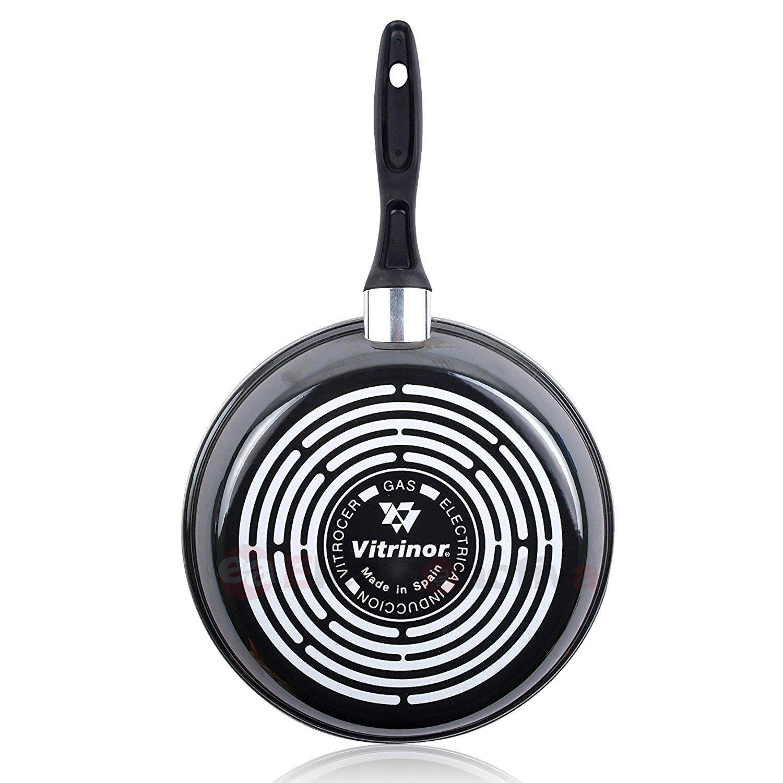 Magefesa K2 Gransasso - Set Juego 3 Sartenes 20-24-28 cm, inducción, antiadherente PIEDRA libre de PFOA, limpieza lavavajillas apta para todas las cocinas, ...