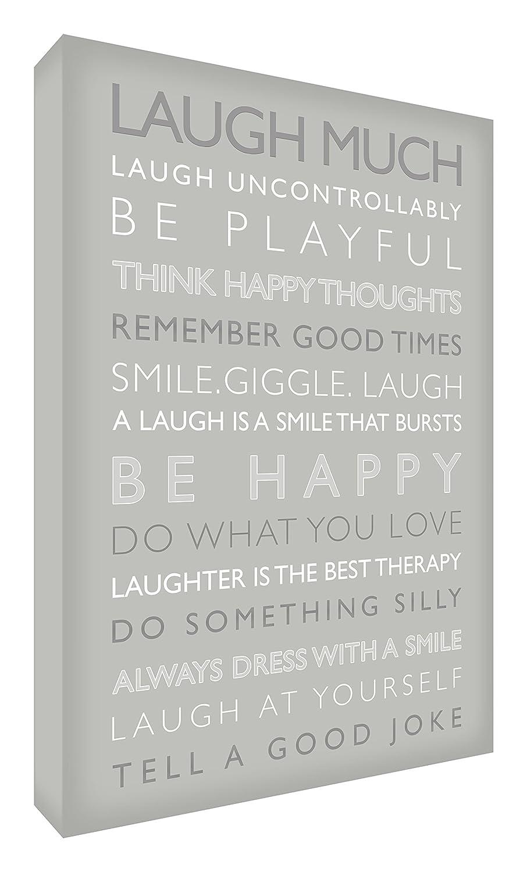 Feel Good Art Gallery Leinwandbild mit solider Frontplatte in modernem und inspirierendem Typographie-Design