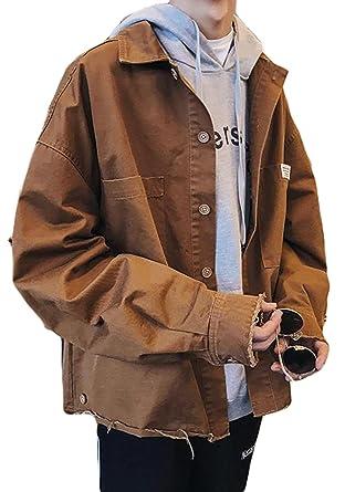eb9c6b49d422fd Amazon | BSCOOLメンズ アウター 秋 ジャンパー ゆったり ジャケット ストリート 韓国ファッション スタジャン メンズ秋服 |  コート・ジャケット 通販