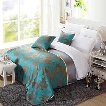 OSVINO Bettläufer 1x Stück Modern Einfach Blume Elegant Waschbar Dekorative  Wärmehaltung Betttuch Für Schlafzimmer Hotelzimmer,