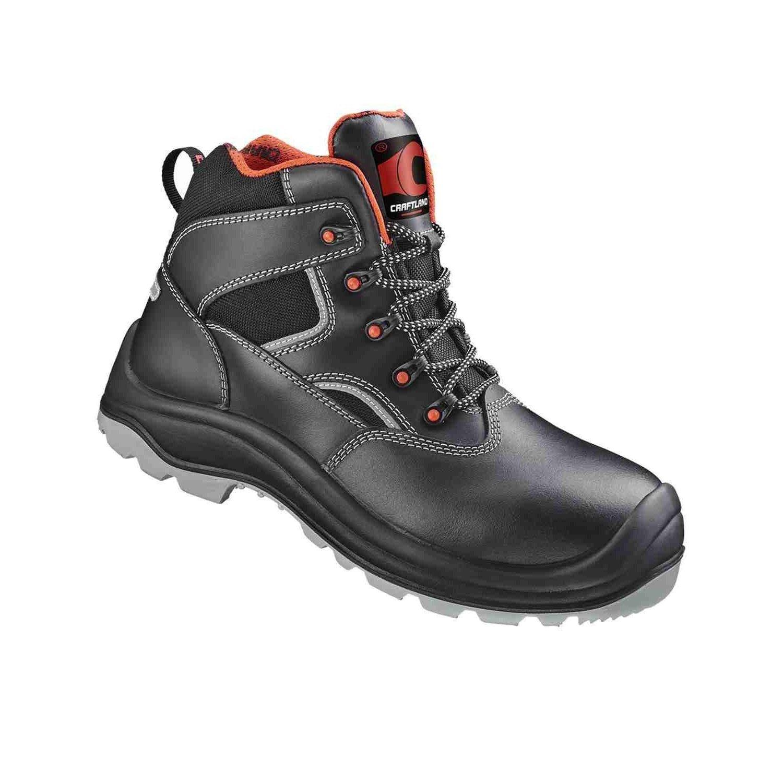 1 schwarz, Paar Sicherheits-Schnürstiefel Sicherheits-Stiefel S3