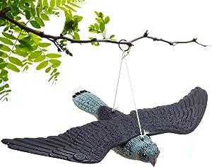 ller76 Garden Decoration Flying Hawk Fake Bird,Natural Enemy Scarecrow Deterrent Crow Bird Control Repellents
