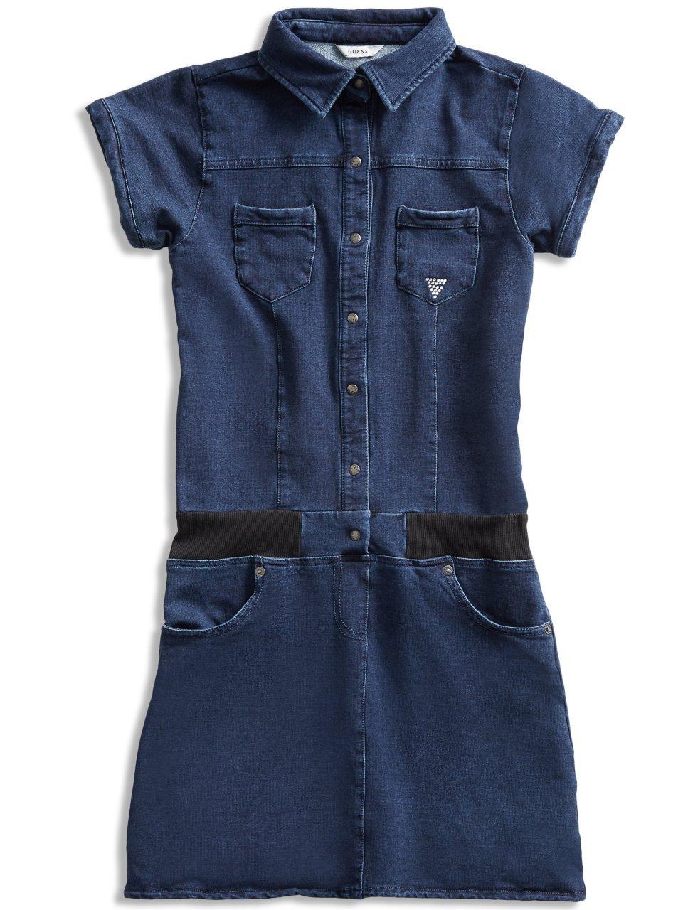 GUESS Short-Sleeve Denim Dress (7-16)
