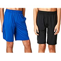 DEVOPS Boys 2 Pack Cool Chain Workout Basketball Shorts with Pockets
