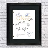 Once Upon A Time TV Autographed Signed Reprint 8.5x11 Script Framed 13x15 OUAT Ginnifer Goodwin, Jennifer Morrison, Lana…