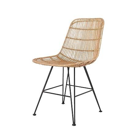 Hk living chaise design en rotin naturel hk living rat0036