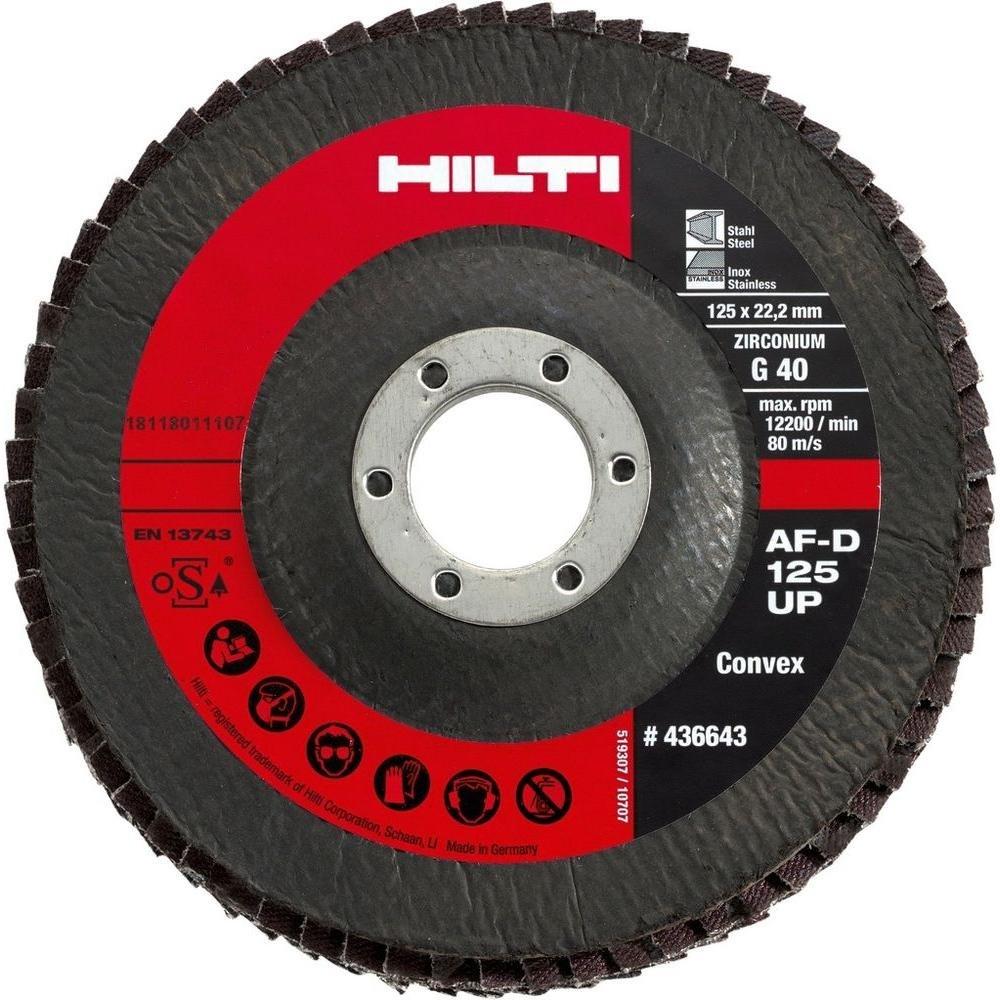 10-Pack Bon Tool Hilti 438322 5-Inch x 7//8-Inch Grit 80 Type 29 Universal Premium Flap Disc