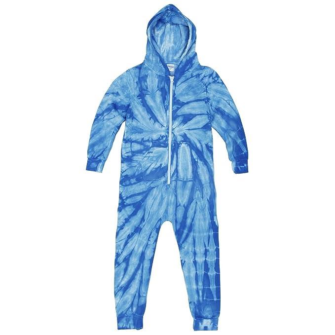 Colortone - Pijama de una pieza / mono con cremallera frontal y diseño de teñido de araña para niños: Amazon.es: Ropa y accesorios