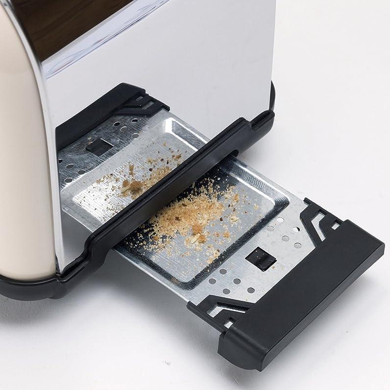 Bestron ATS100RE Toaster/Gril Pain pour 2 Tranche Ivoire: Amazon ...