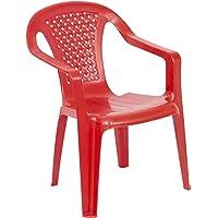 URBNLIVING Camelia Chaise Plastique pour Enfant–Rouge (quantité 1)