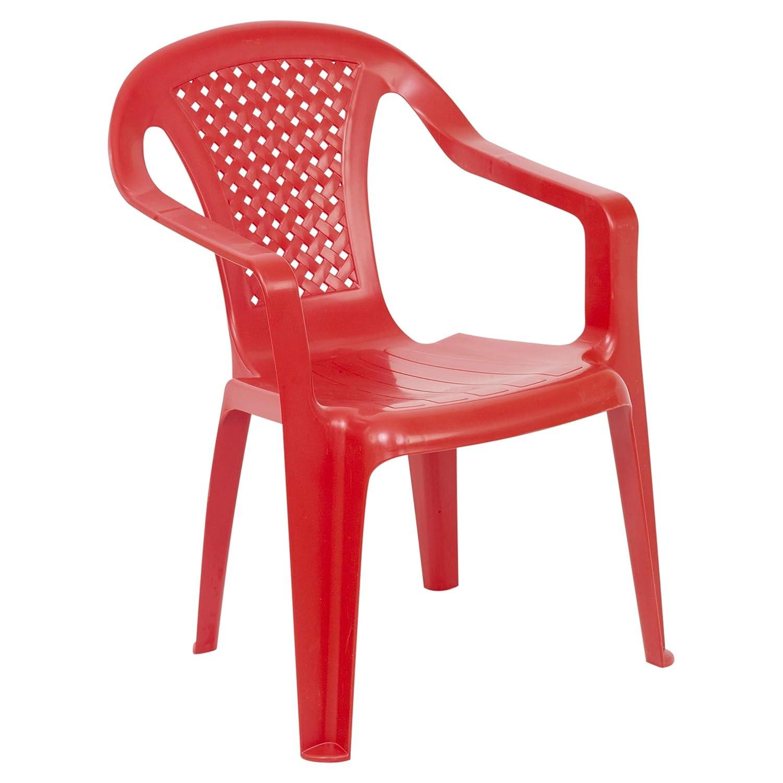 URBNLIVING Camelia Plastic Children's Chair - Red (Quantity 1) EGT