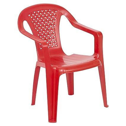 URBNLIVING Camelia - Silla Infantil (plástico, 1 Unidad), Color Rojo ...