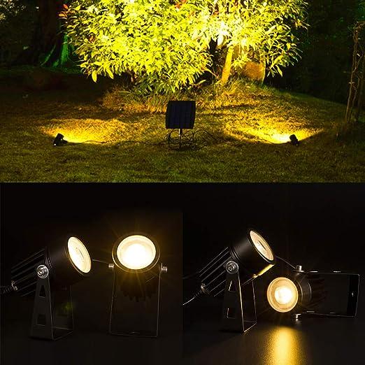 P12cheng foco de jardín, IP65 resistente al agua, super brillo, luz LED para exteriores, jardín, prado, foco de luz, color negro: Amazon.es: Iluminación