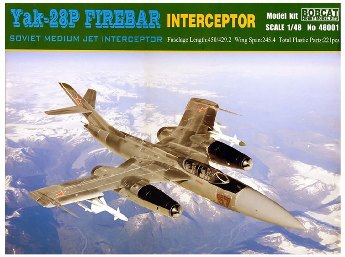 Bobcat Hobby Model Kits 48001 Modellbausatz Yak-28P Firebar Interceptor Soviet Mediu Jet