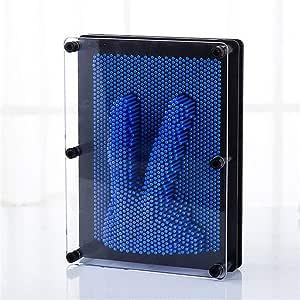 PZNSPY Niños Divertido Juguete 3D Modelo DIY Plástico Antiestrés Clon Huella digital Aguja Mucus Molde de mano Juguetes educativos para niños, BU: Amazon.es: Hogar
