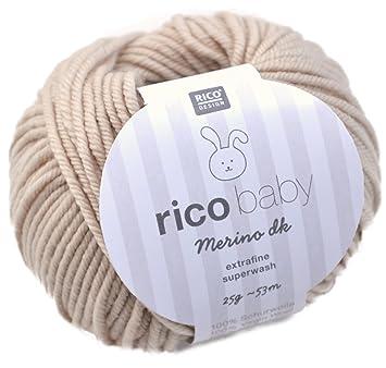 Amazonde Rico Baby Merino Dk 002 Beige Babywolle Merinowolle